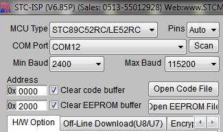 STC-ISP COM Settings